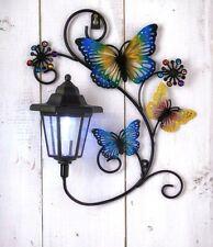 New Solar Butterfly Wall Plaque Garden Ornament