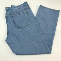 Faded Glory Denim Jeans Mens 42X32 Blue Relaxed Fit 100% Cotton Medium Washed