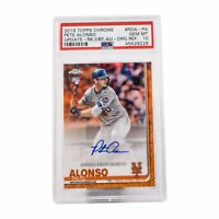 2019 Topps Chrome Pete Alonso Update Rookie Orange Refractors SP 18/25 PSA 10!!!