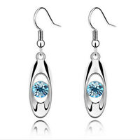 Austria Style Women Water Drop Crystal Hook Dangle Earrings Wedding Gift D