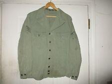 WWII US Army Field HBT 2 Pocket Jacket Painted T4 Sergeant Stripes Named WW2