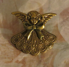 Mother's & Grandmother's Birthstone Angel Brooch Brass