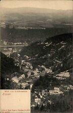 Crèches les monts Métallifères s/w ~ 1910 vue du kohlbornstein panorama vue sur les champs