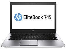 FAST HP Laptop EliteBook 745 G2 A10 Quad Core 256GB SSD 8GB RAM Windows 10 pro