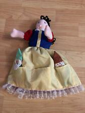 VTG Reversible Topsy Turvy Flip Cloth Doll Snow White Dwarfs Witch Red Apple