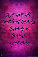 We Are All Spiritual Beings Having a Human Experience by Brigid Ashwood Art Prin