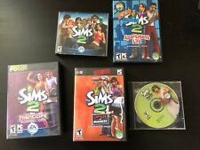 The Sims 2 + 4 Expansion Packs PC Business University Apartment Nightlife