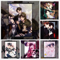 Attack On Titan BL Eren x Levi Anime Wall Art Poster Scroll Home Decoration