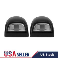 2x Black License Plate Light Lens Housing for Silverado Sierra Escalade Pickup