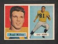 1957 Topps #120 Paul Miller EXMT/EXMT+ RC Rookie LA Rams DP 152222