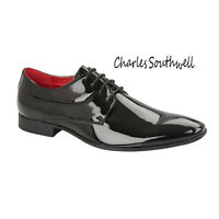 Mens Smart Patent Office Work Oxford Faux Leather Formal Shoes UK 7 8 9 10 11 12