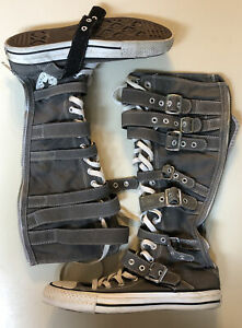 XXHI Converse Ladies Size 8.5 All Star Grey Shoes