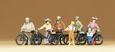 Ho Preiser 12129 Old Time (c.1900) Standing Cyclists with Bicycles : Figures