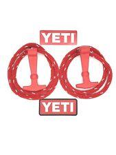 YETI Tundra Cooler Latch Kit - Rope, handles, & sticker *Red* +1 Free Sticker