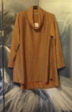 Lagenlook Cosy Pink Flared Cowl Italian Boho Top Tunic Size 12 14 16 18 20