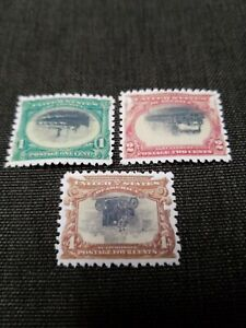 US Stamps #294, 295, & 296 1901 Pan American Expo Inverted Reprint Place Holders