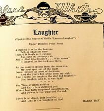 """1929 LOS ANGELES HIGH SCHOOL yearbook """"Blue and White""""  GAY interest: HARRY HAY"""