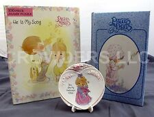 """Precious Moments """"You are my Happiness 1995"""" Mini Plate 100pc Puzzle & Journal"""