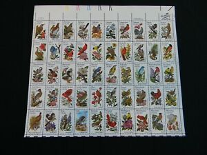 Full Sheet of 50 USA State Birds and Flowers $.20 First Class Stamps 4-14-1982