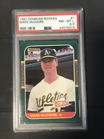 Mark McGwire 1987 Donruss Baseball The Rookies #1 Rookie Graded PSA 8.5 RC