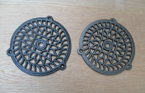 """5""""  ROUND VICTORIAN VINTAGE CAST IRON AIR VENT AIR BRICK GRILLE COVER"""