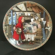 """Knowles Fine China Collector Plate Little Red Riding Hood 8.5"""" #2959E Pritchett"""