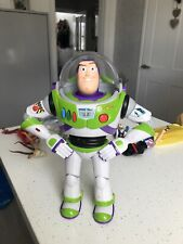 Disney Toy Story Buzz Lightyear Thinkway Toys Talking With Pop Out Wings Tested