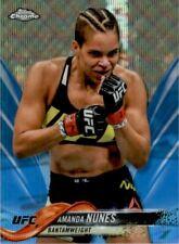 2018 Topps Chrome UFC Blue Wave #20 Amanda Nunes /75