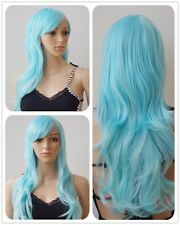 Pink Cosplay Wig Heat Resistant Halloween Part Costume Full Head Wigs Curly Wave