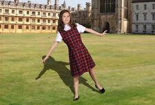 SALE @ Nearly New LANDS END School Girl Uniform Plaid Girls Dress Jumper Sz 12 +