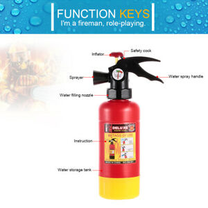 Fire Extinguisher Portable Squirter Water Spraying Toy For Kids Halloween D0L9