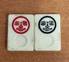 Rummikub Vintage 1980 Joker Replacement Tiles, Black & Red Joker Tiles