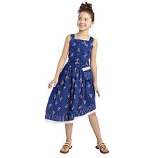 NEW Size SMALL 6/6X Target Disney Beauty and Beast Movie Girls Belle Dress Navy