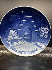 """ROYAL COPENHAGEN 1986 """"Silent Night"""" Denmark Christmas 7""""  Plate"""