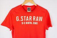 G-Star Raw Denim Orlando Men T-Shirt Short Sleeves Red Casual Crew Neck size S
