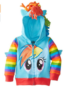 New My Little Pony Hoodie BLUE HOODIE Rainbow Dash 2,3,4,5,6,7 YEARS