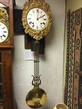 "ANTIQUE FRENCH MORBIER COMTOISE WALL CLOCK ""Chomasson"" - Second half 19th centur"