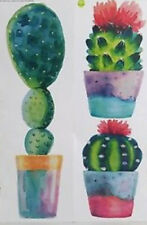 CACTUS PLANTS wall stickers 3 big decals western room decor cacti