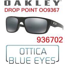 Occhiali da Sole OAKLEY SUNGLASSES OO 9367 936702 DROP POINT BLACK IRIDIUM NEW