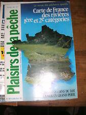 Plaisirs de la pêche N° 198 Carte de France des rivières de pĉhe Lot Pêcheur
