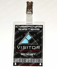 Terminator ID Badge Cyberdyne Visitor Skynet Cosplay Costume Prop Comic Con