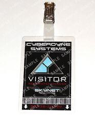 Terminator ID Badge Cyberdyne Visitor Skynet Cosplay Costume Prop Comic Con