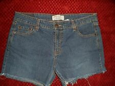 LEVIS Signature Stretch jrs 13 Med Low Rise CUT-OFF Raw edge Blue Jean Shorts