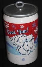~Coca Cola Coke Can Winter Polar Bear Cookie Jar 2005~