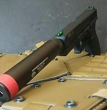 KJW green gas blowback KP-13 full metal CQB9 airsoft pistol w barrel extension
