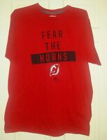 "New Jersey Devils XL Majestic brand T-shirt ""Fear The Horns"" - NWT"