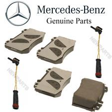 For Mercedes C209 CLK C215 W203 W220 Front Brake Pad Set & 2 Sensors Kit Genuine