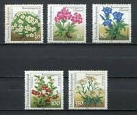 38895) Germany 1991 MNH Flowers 5v