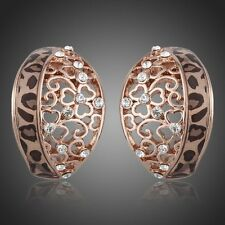 18K Rose Gold Plated Made With Swarovski ELEMENTS Crystal Stud Earrings E86-10