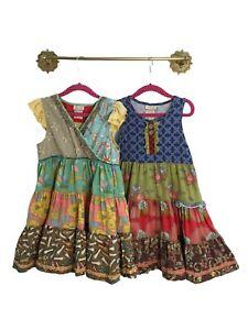 Lot of 2 Girl's Matilda Jane Dress Size 6 Cap Sleeve Sleeveless Shoes Floral